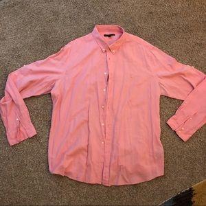 John Varvatos Pink salmon button shirt